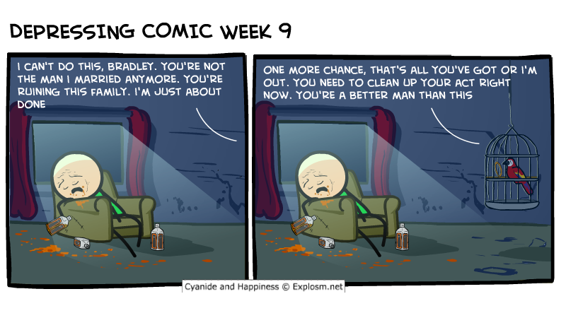 depressing comic week - parrot