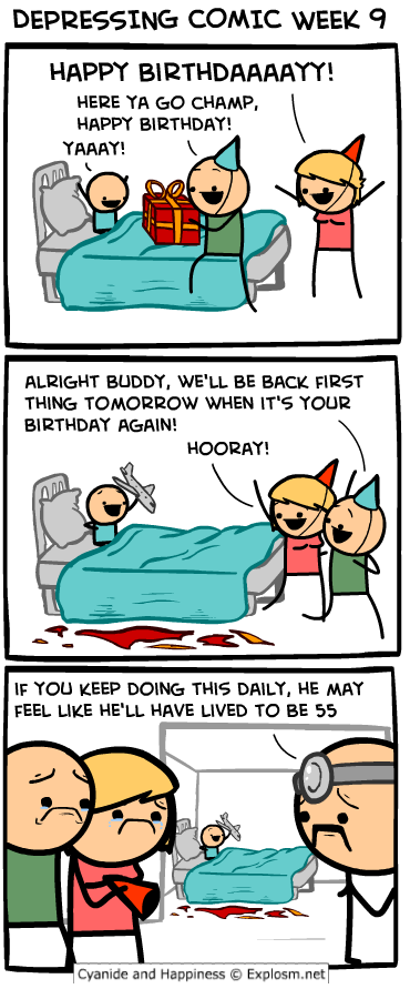 depressing comic week - happy birthday