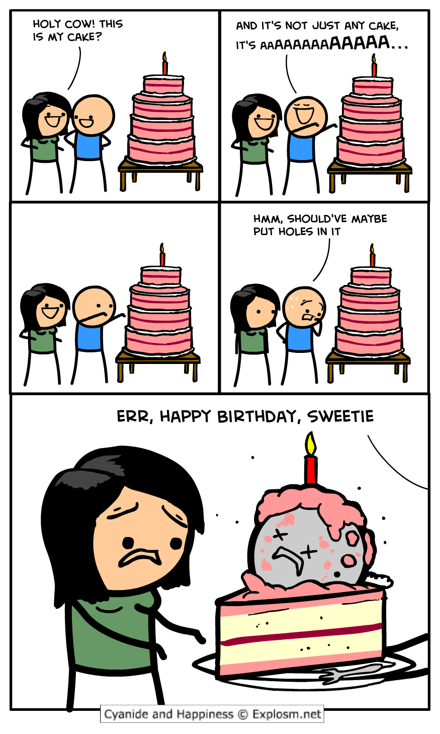 Cyanide Happiness Cake Stripper