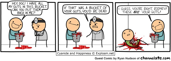 bucket of guts