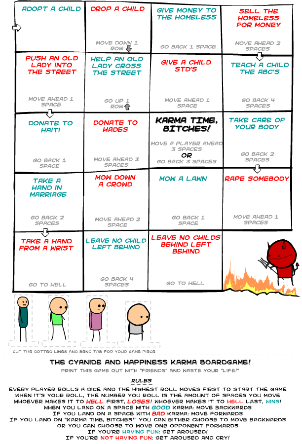 cyanide and happiness board game