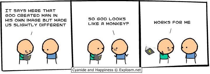 God looks like a monkey