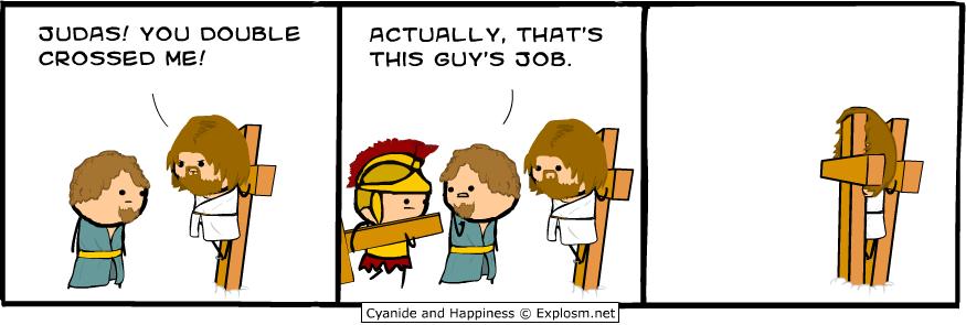 Jesus double crossed
