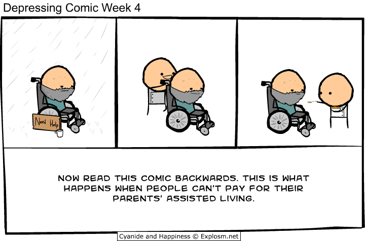 depressing comic week - parents assisted living