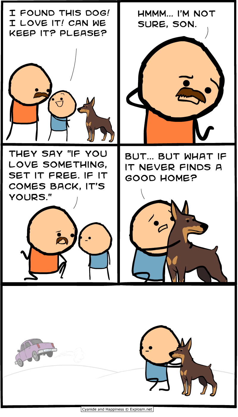 found cyanide & happiness (explosm net),Does Your Dog Bite Meme
