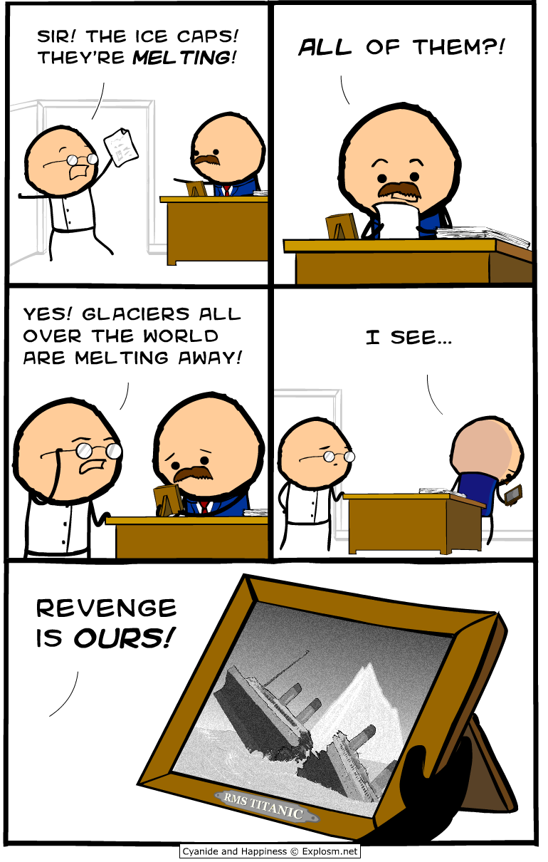 glaciers titanic revenge