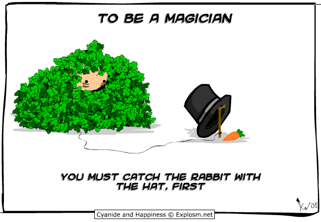 to be a magician