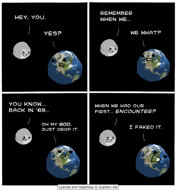 moon earth first encounter faked it