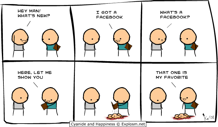 Image result for cyanide and happiness facebook