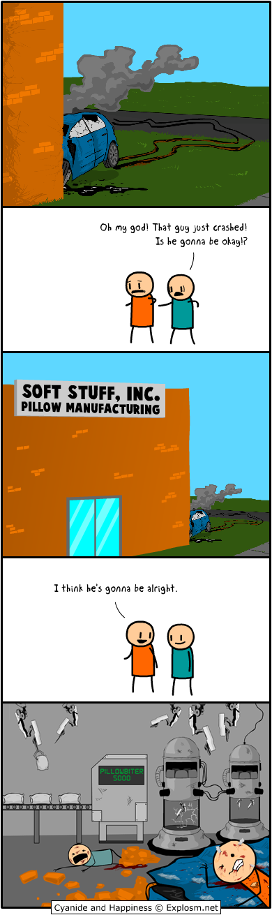 pillow manufacturing car crash