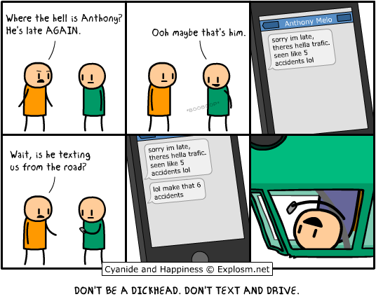 texting from the road