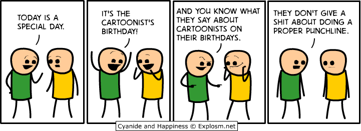 cartoonists birthday