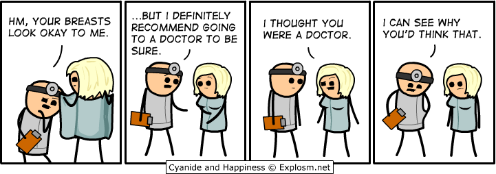 recommend going to a doctor