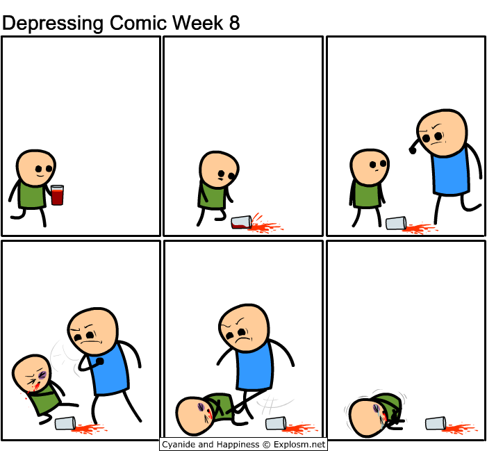 depressing comic week - adult violence