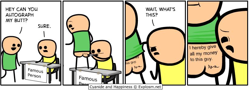 butt autograph