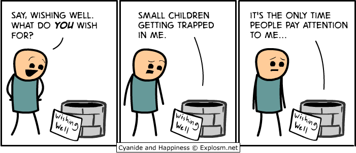 Wishing Well small children getting trapped