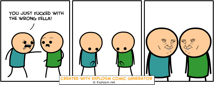 Cyanide and Happiness random comic generator — DashNet Forums