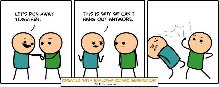 Random Comic Generator StrangePizzasLeather